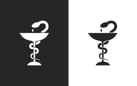 antidote: Medical symbol  -  black and white icons. Vector illustration Illustration