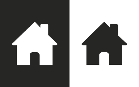 abode: Home  -  black and white icons. Vector illustration Illustration