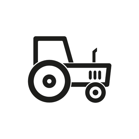 agriculture icon: Tractor  icon  on white background. Vector illustration. Illustration