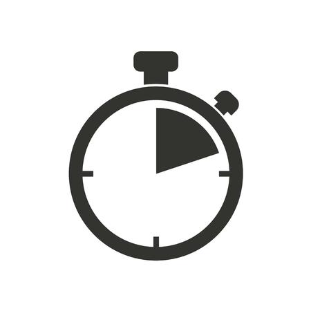 cronometro: icono del cronómetro en el fondo blanco. Ilustración del vector. Vectores
