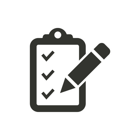 Registration  icon  on white background. Vector illustration.