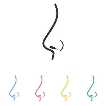 exhale: Nose   icon  on white background. Vector illustration. Illustration