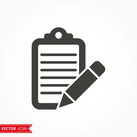 icône d'enregistrement sur fond blanc. Vector illustration.