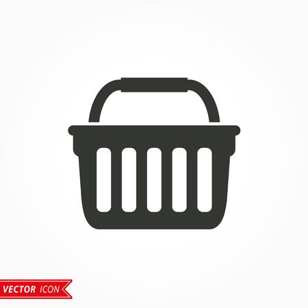 shopping basket: Shopping basket  icon  on white background. Vector illustration.
