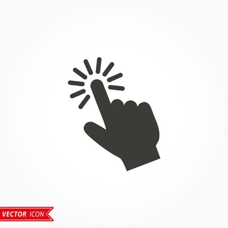 Toque el icono en el fondo blanco. Ilustración del vector.