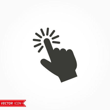 Touch   icon  on white background. Vector illustration. 矢量图像