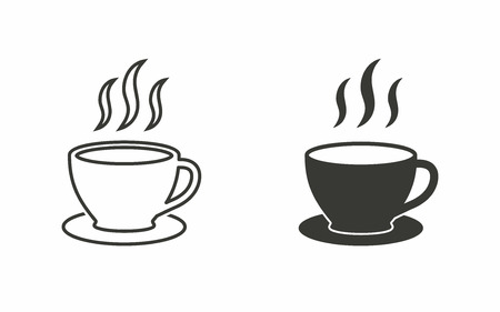 coffee cup icon: Coffee cup   icon  on white background. Vector illustration. Illustration