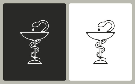 ordinance: Medical symbol -  black and white icons. Vector illustration