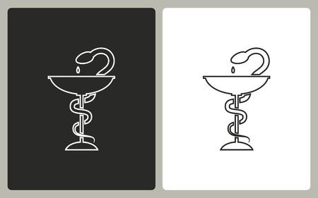 ordinance: Medical symbol -  black and white icons. Vector illustration