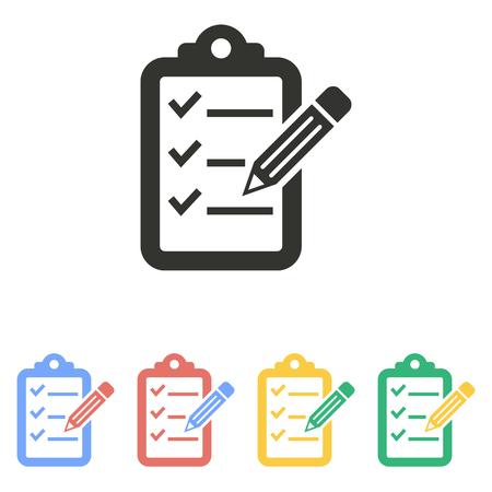 Icono del lápiz portapapeles en el fondo blanco. Ilustración del vector. Foto de archivo - 50854959