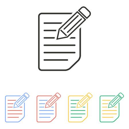 Registration icon on white background. Vector illustration. Vektorové ilustrace