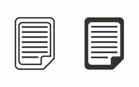 sheet of paper: Document  icon  on white background. Vector illustration. Illustration