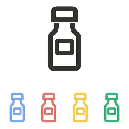 phial: Medicine bottle  icon  on white background. Vector illustration.