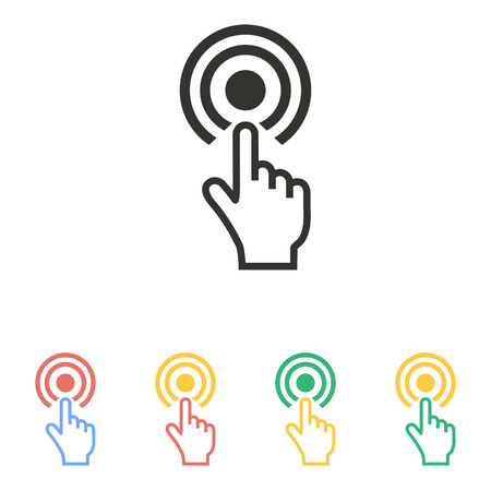 hand touch: Touch   icon  on white background. Vector illustration. Illustration