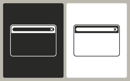 window bars: Browser  -  black and white icons. Vector illustration.