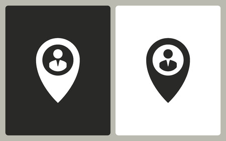map pin: Map pin  -  black and white icons. Vector illustration.