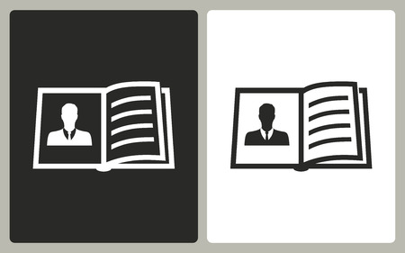 e book reader: Book  -  black and white icons. Vector illustration.