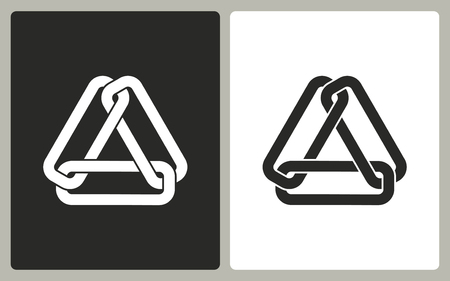 pressure linked: Link  -  black and white icons. Vector illustration.