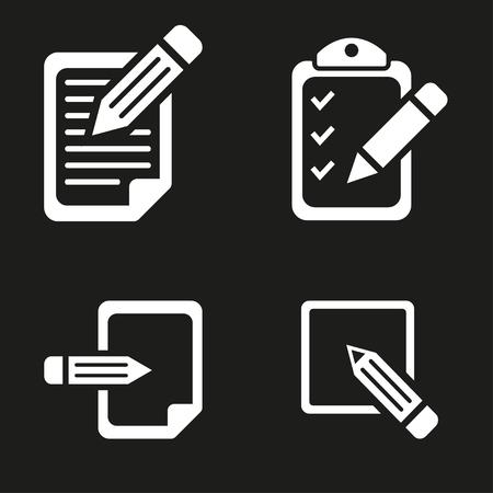 registration: Registration  icon  on black background. Vector illustration.