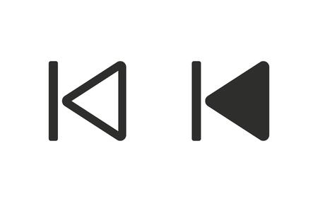 recover: Backward icon  on white background. Vector illustration. Illustration