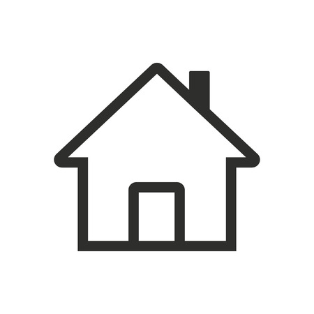 abode: Home   icon  on white background. Vector illustration.