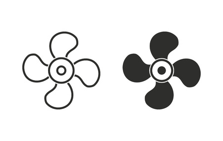 venting: Fan  icon  on white background. Vector illustration.