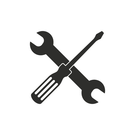 Tool   icon  on white background. Vector illustration.  イラスト・ベクター素材