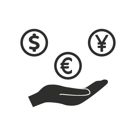 fundraiser: Donate  icon  on white background. Vector illustration.
