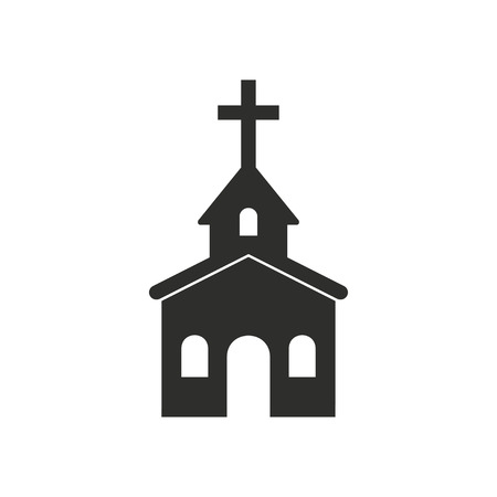 born again: Church  icon  on white background. Vector illustration. Illustration