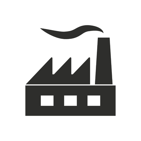 distillery: Factory  icon  on white background. Vector illustration.