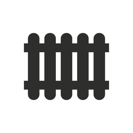 dissociation: Fence  icon  on white background. Vector illustration.
