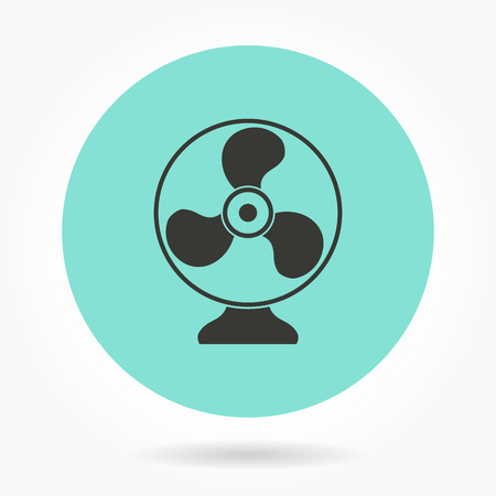 rotor: Fan   -   icons for graphic design and Internet sites. Vector illustration. Illustration