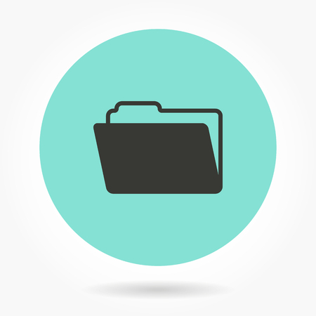 folder icons: Folder   -   icons for graphic design and Internet sites. Vector illustration.