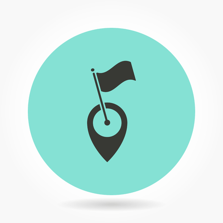 map pin: Map pin   -   icons for graphic design and Internet sites. Vector illustration.