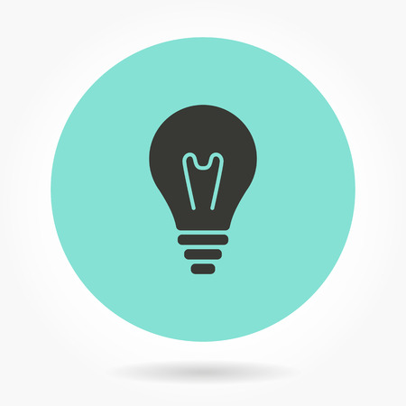 invent clever: Lamp   -   icons for graphic design and Internet sites. Vector illustration. Illustration