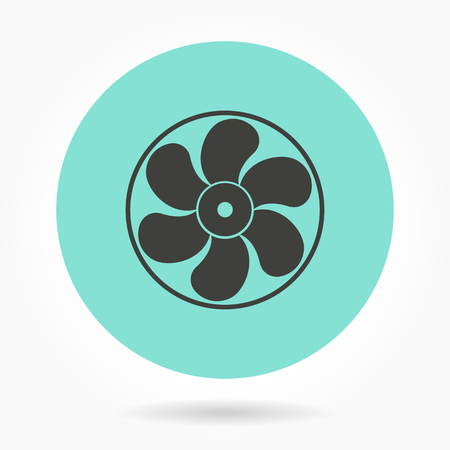 aeration: Fan   -   icons for graphic design and Internet sites. Vector illustration. Illustration