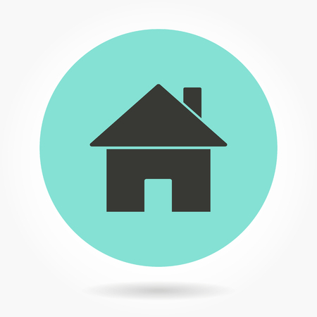 home icon: Home    -   icons for graphic design and Internet sites. Vector illustration. Illustration
