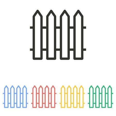 bucolic: Fence  icon  on white background. Vector illustration.