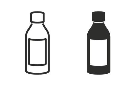 Medicine bottle icon on white background. Vector illustration.