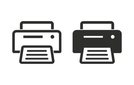 ink jet: Printer  icon  on white background. Vector illustration. Illustration