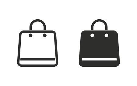 shopping bag icon: Shopping bag  icon  on white background. Vector illustration.