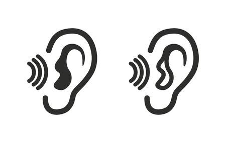 listen ear: Ear   icon  on white background. Vector illustration. Illustration