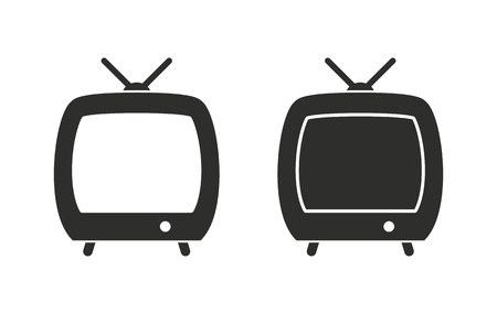 hdtv: TV  icon  on white background. Vector illustration.