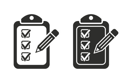 roster: Clipboard  icon  on white background. Vector illustration.