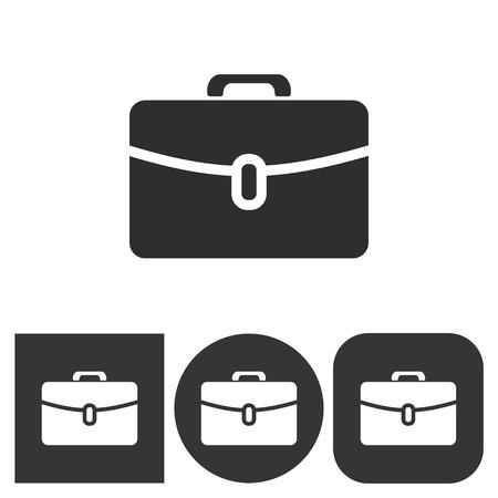 portfolio icon: Portfolio  icon  on  black and white background. Vector illustration.