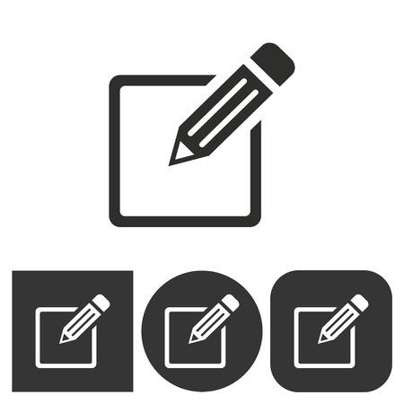 Registration  icon  on  black and white background. Vector illustration. Illustration