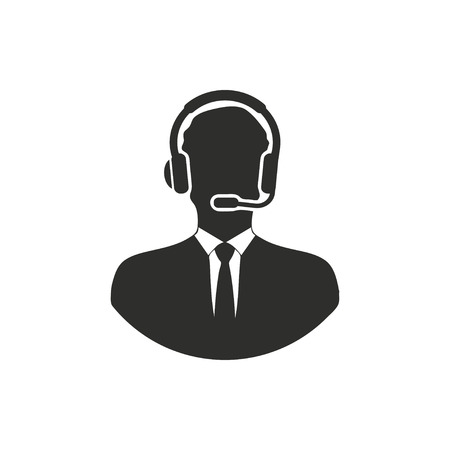 Assistance  icon  on white background. Vector illustration. Illustration