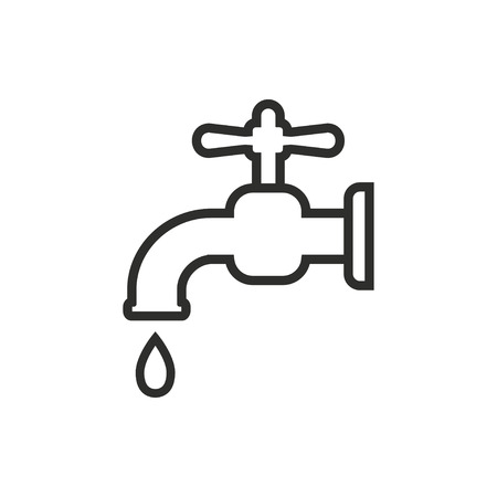 ooze: Faucet  icon  on white background. Vector illustration. Illustration