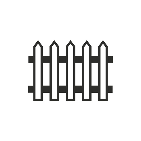 paling: Fence  icon  on white background. Vector illustration.