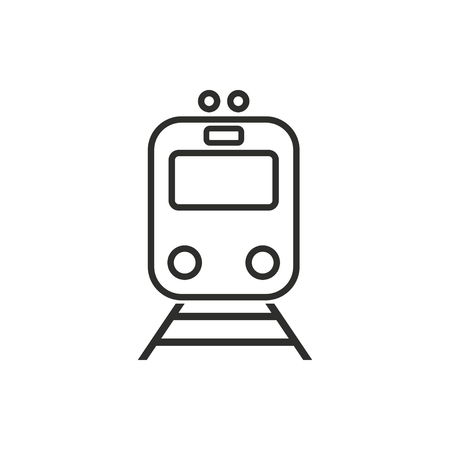 high speed rail: Metro  icon  on white background. Vector illustration. Illustration